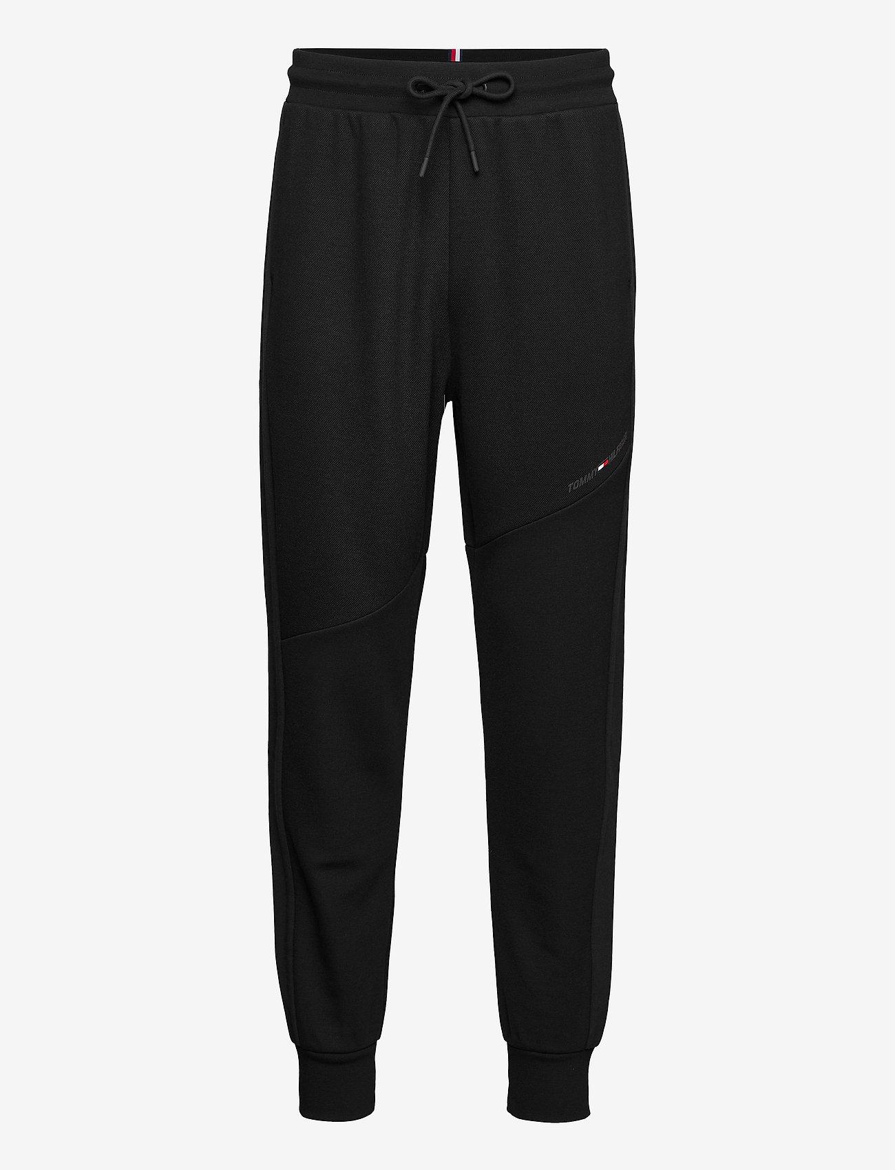 Tommy Sport - BLOCKED TERRY PANT - sweatpants - black - 0