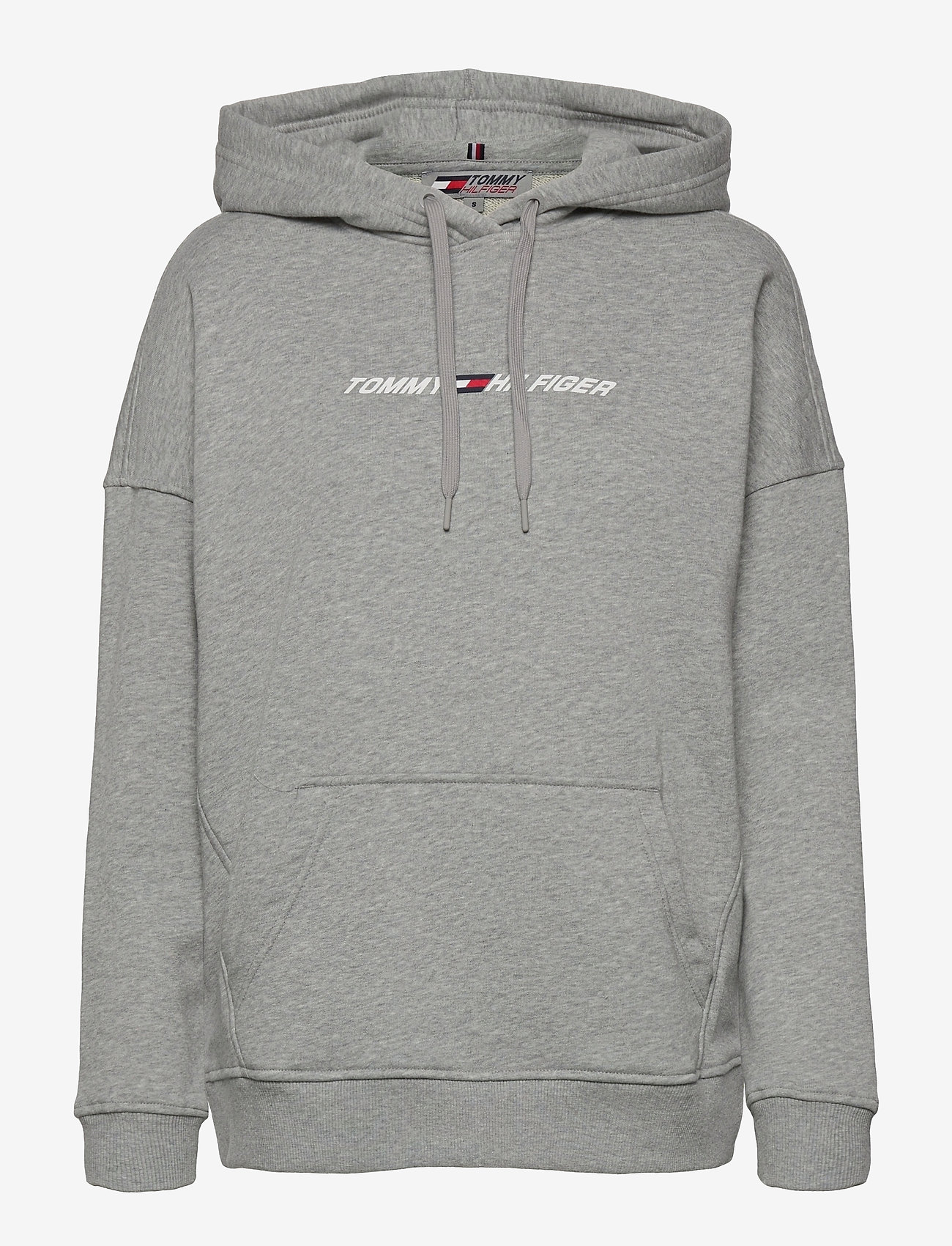 Tommy Sport - RELAXED GRAPHIC HOODIE LS - sweatshirts & hoodies - light grey heather - 0