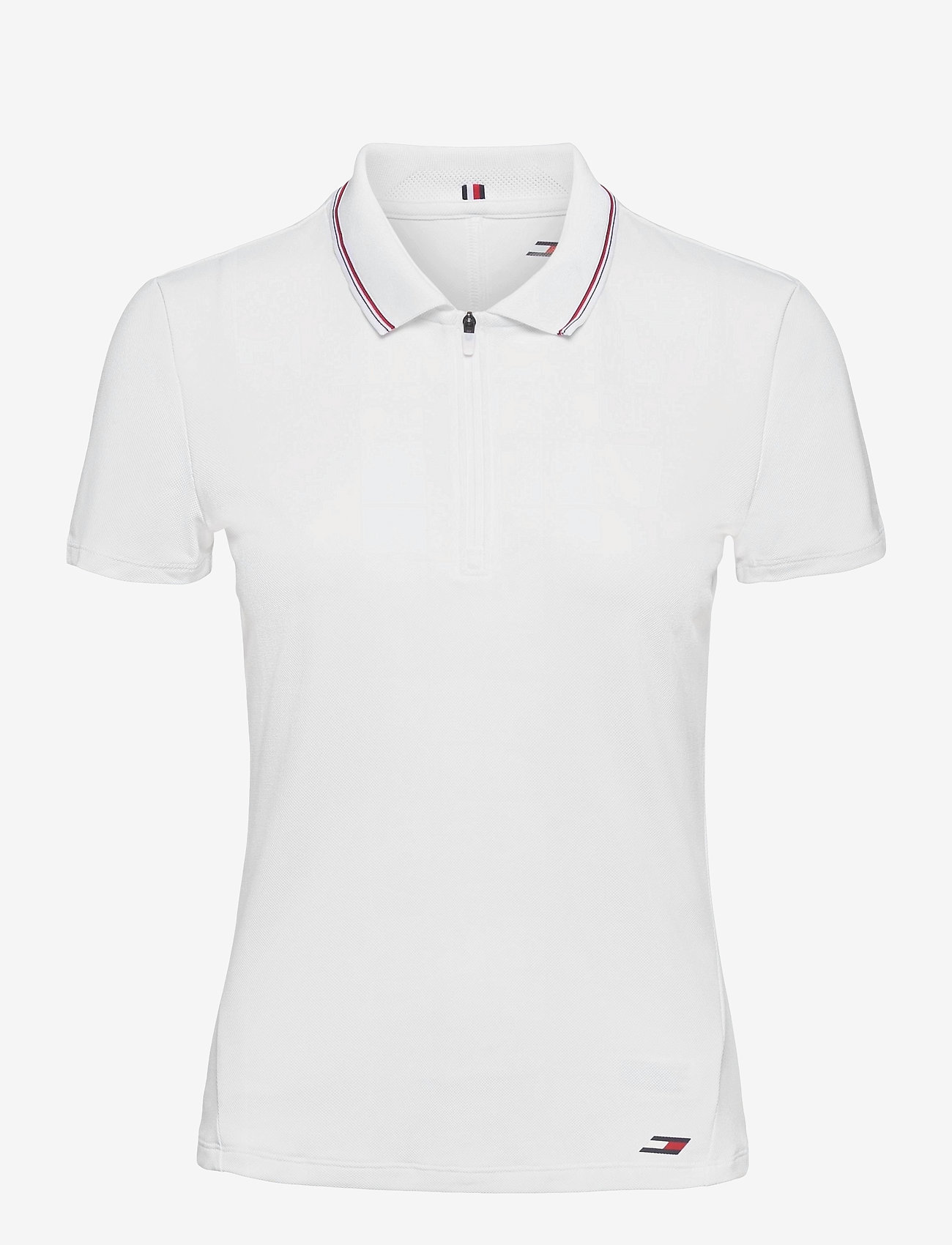 Tommy Sport - SLIM LBR POLO SS - polo's - th optic white - 0
