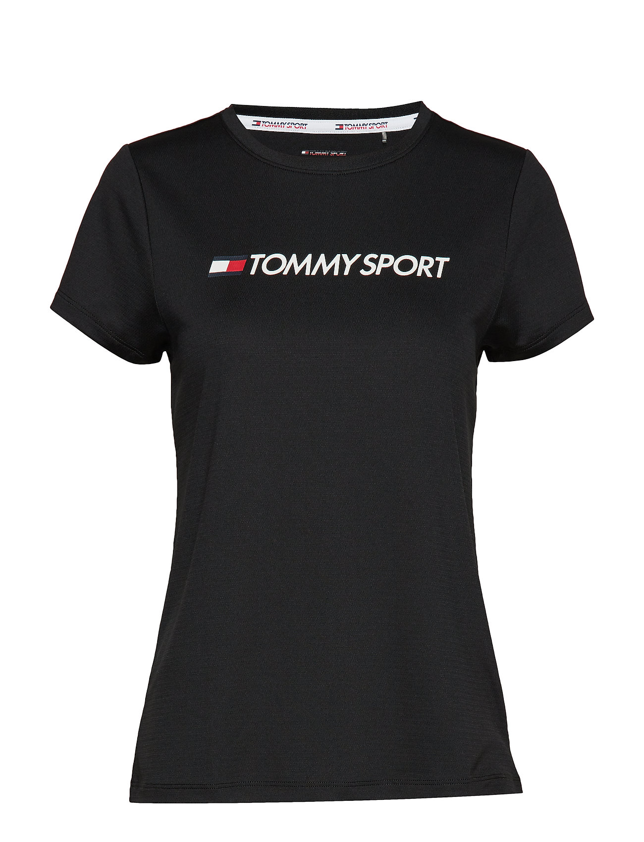 Image of Tee Chest Logo T-shirt Top Sort Tommy Sport (3144751567)