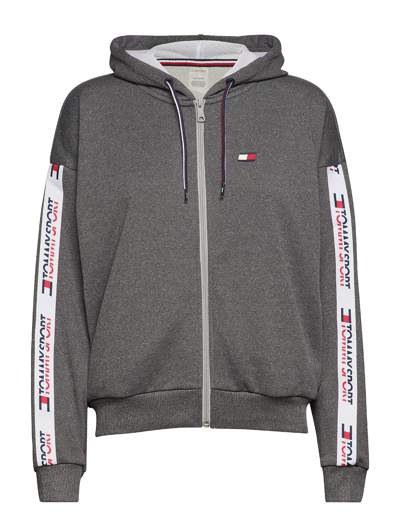 Through Sport Zip With HeatherTommy Hoody Tapinggrey hdsxotrCBQ