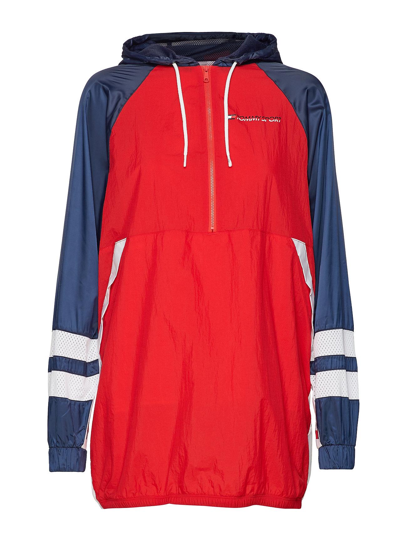 Tommy Sport WINDBREAKER DRESS - SPORT NAVY