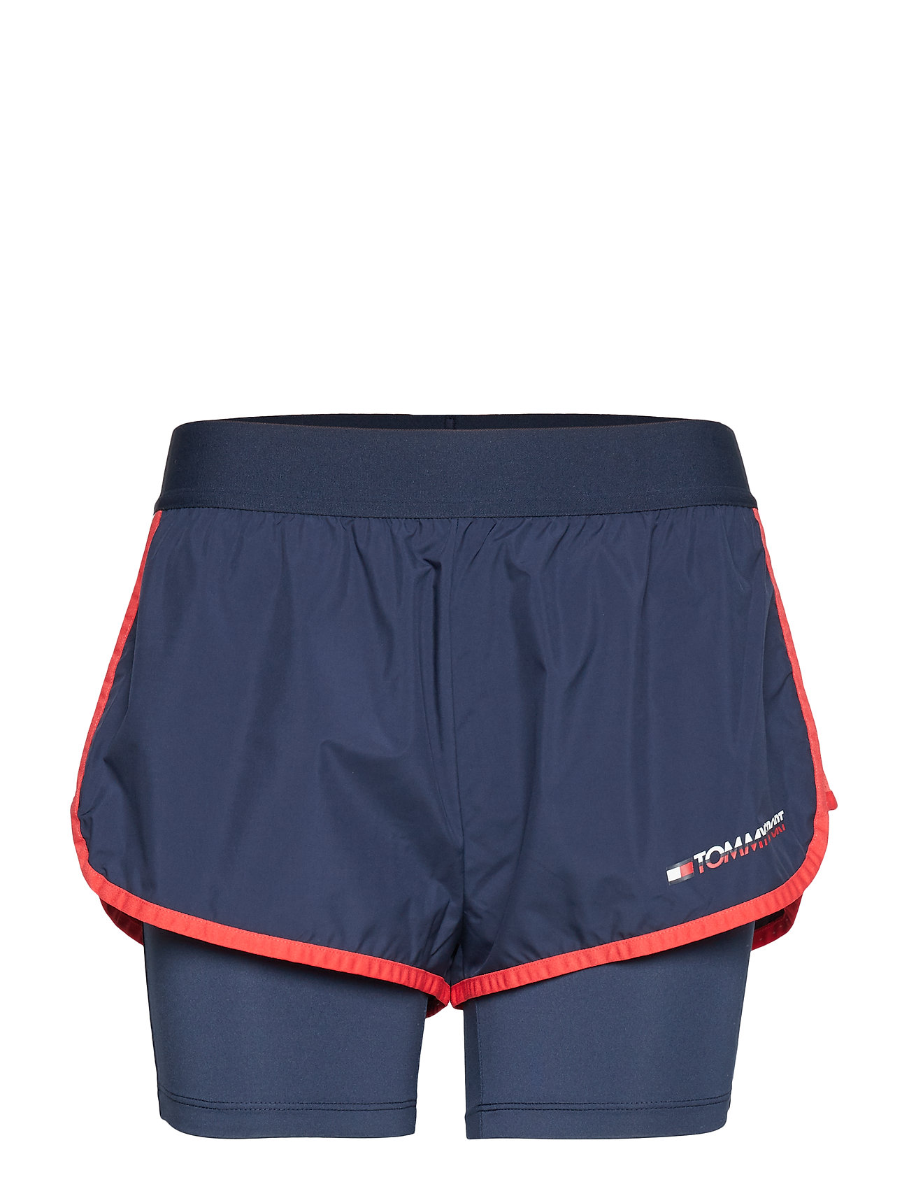Tommy Sport BLOCKED 2 IN 1 SHORT - SPORT NAVY