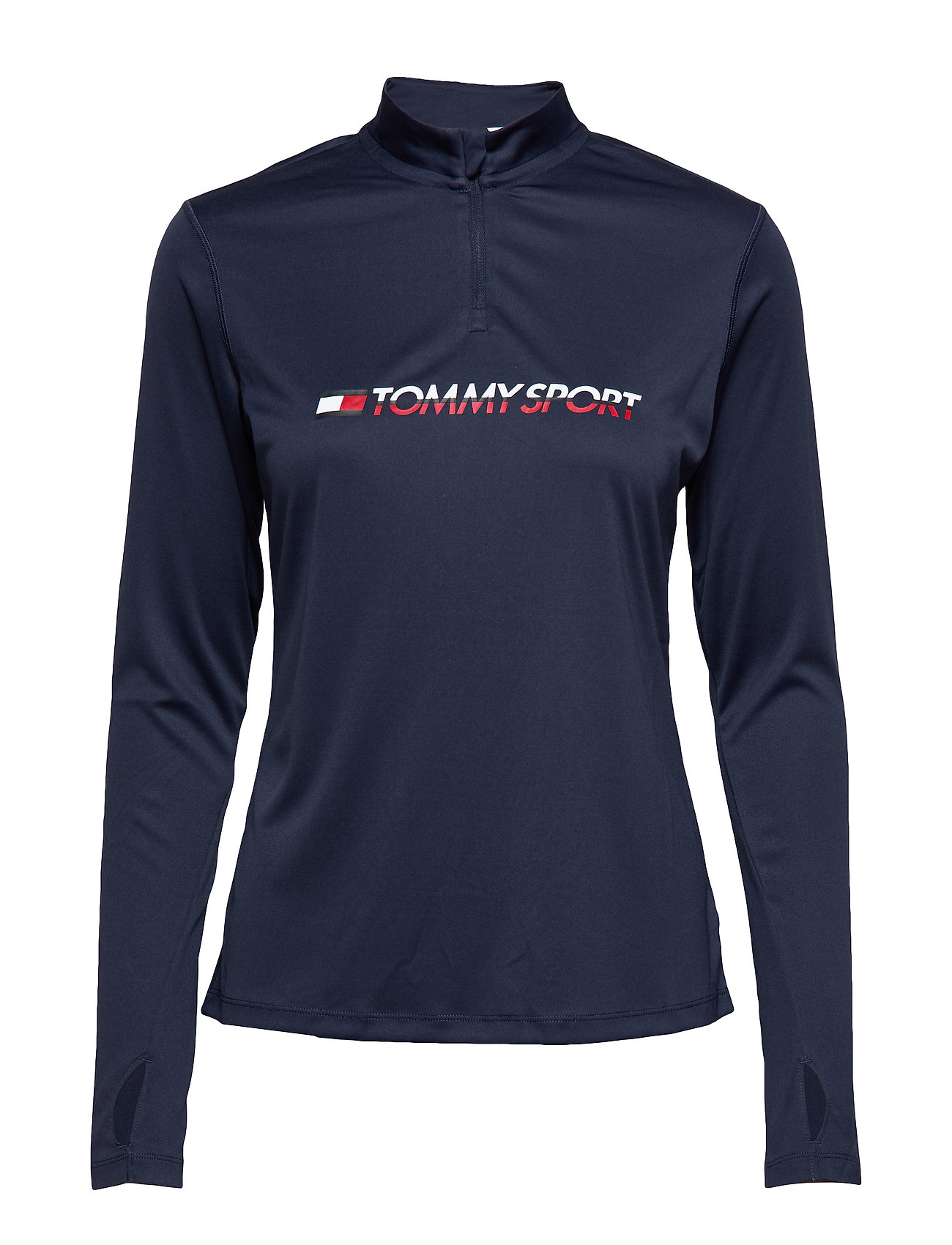 Image of 1/4 Zip Base Layer T Base Layer Tops Blå Tommy Sport (3274622715)