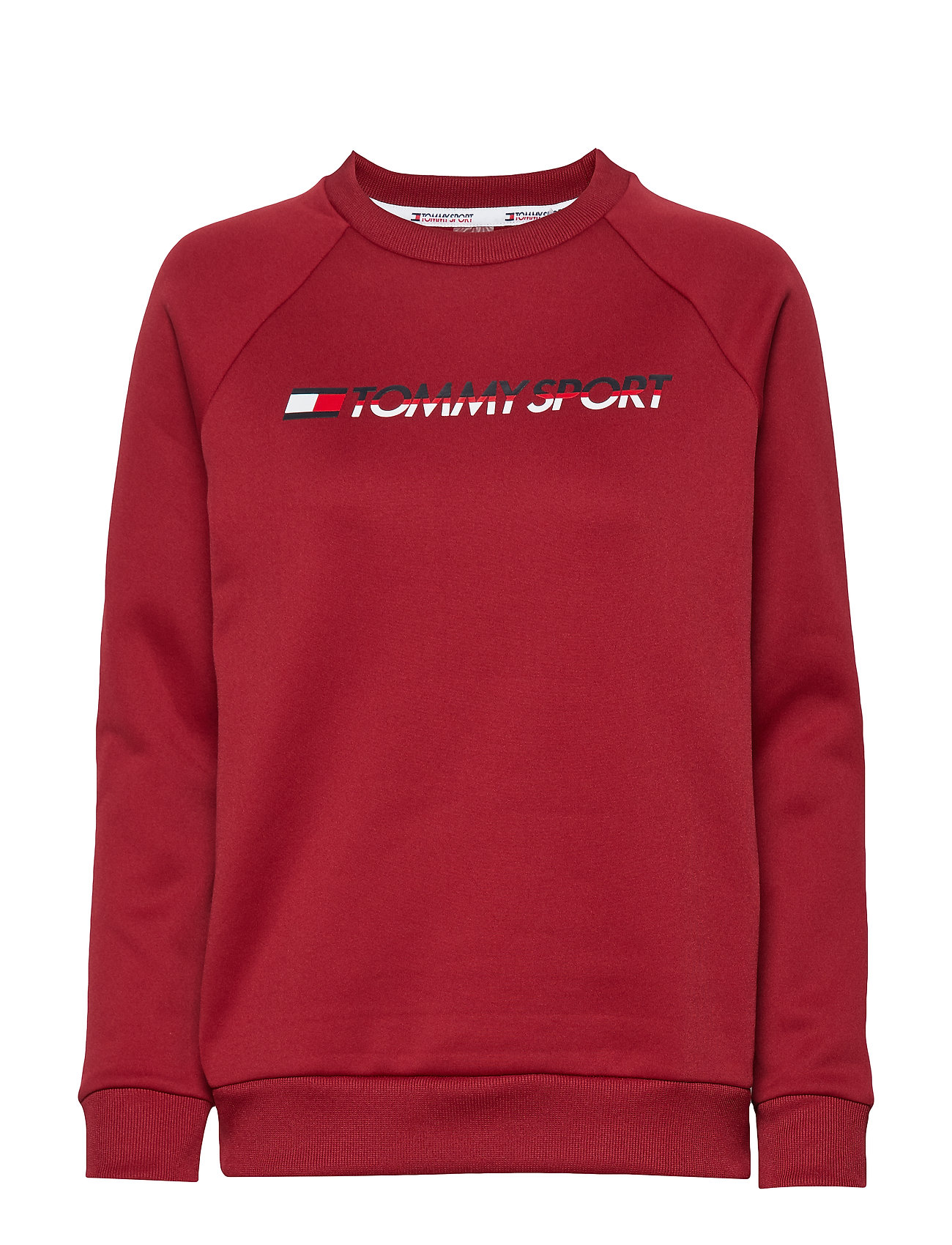 Tommy Sport FLEECE CREW NECK - BIKING RED