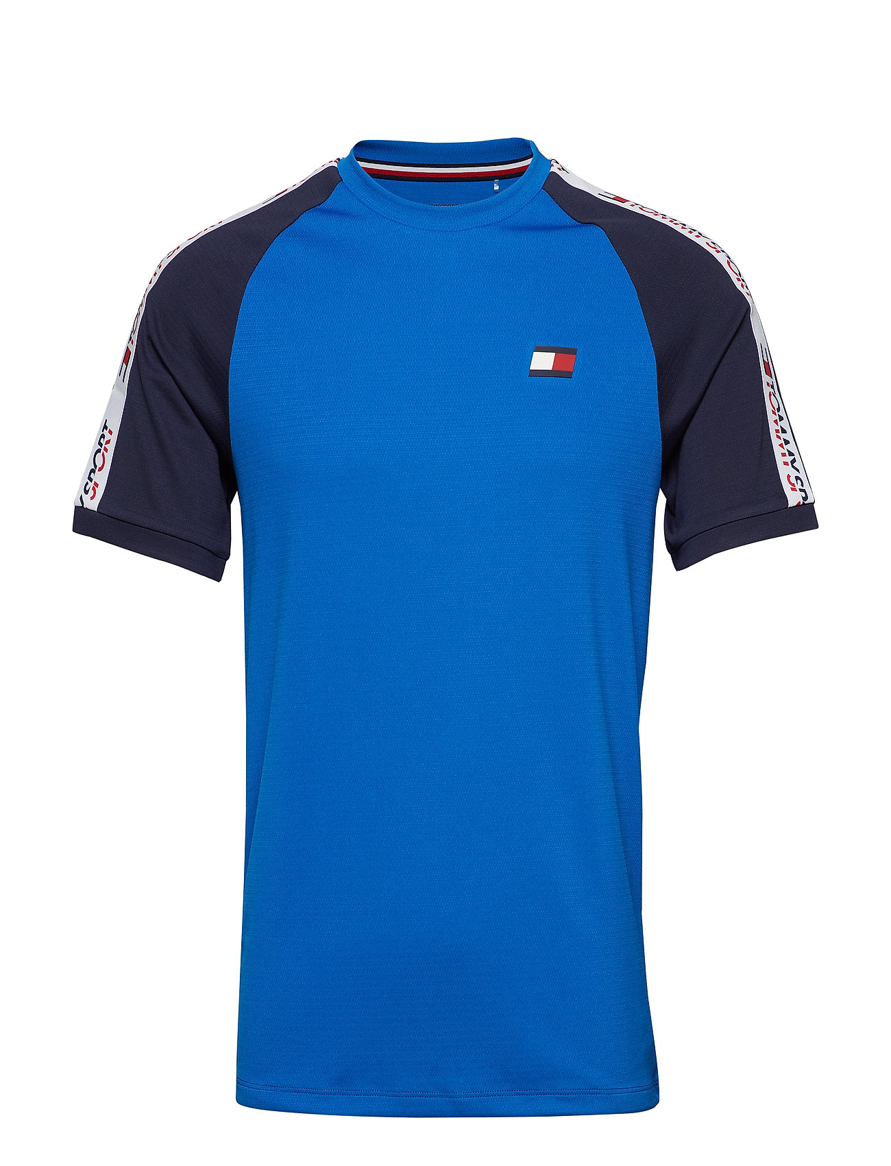 Tommy Sport T-Shirt with Tape Detail - PRINCESS BLUE