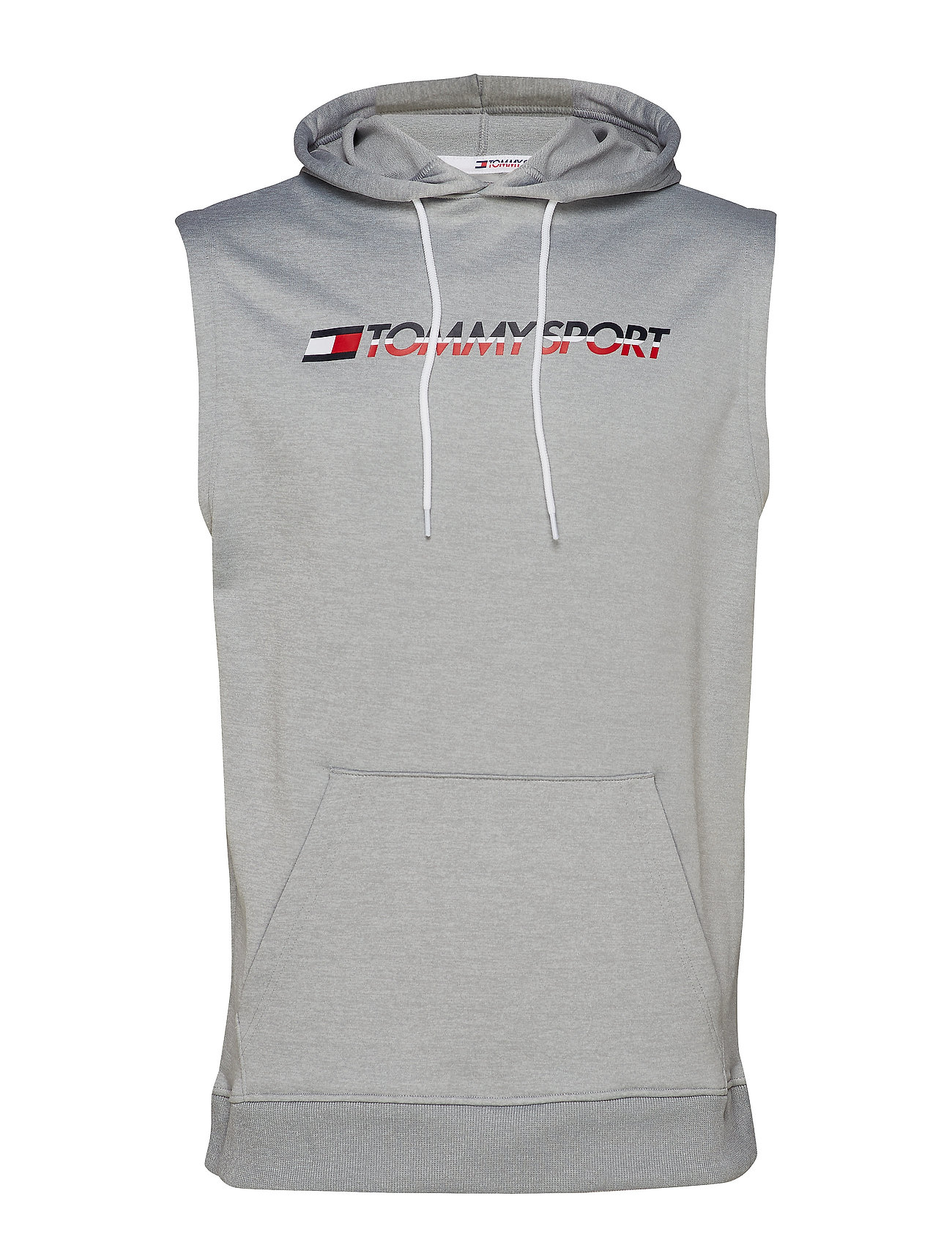 Tommy Sport KNIT SLEEVELESS HOOD - GREY HEATHER