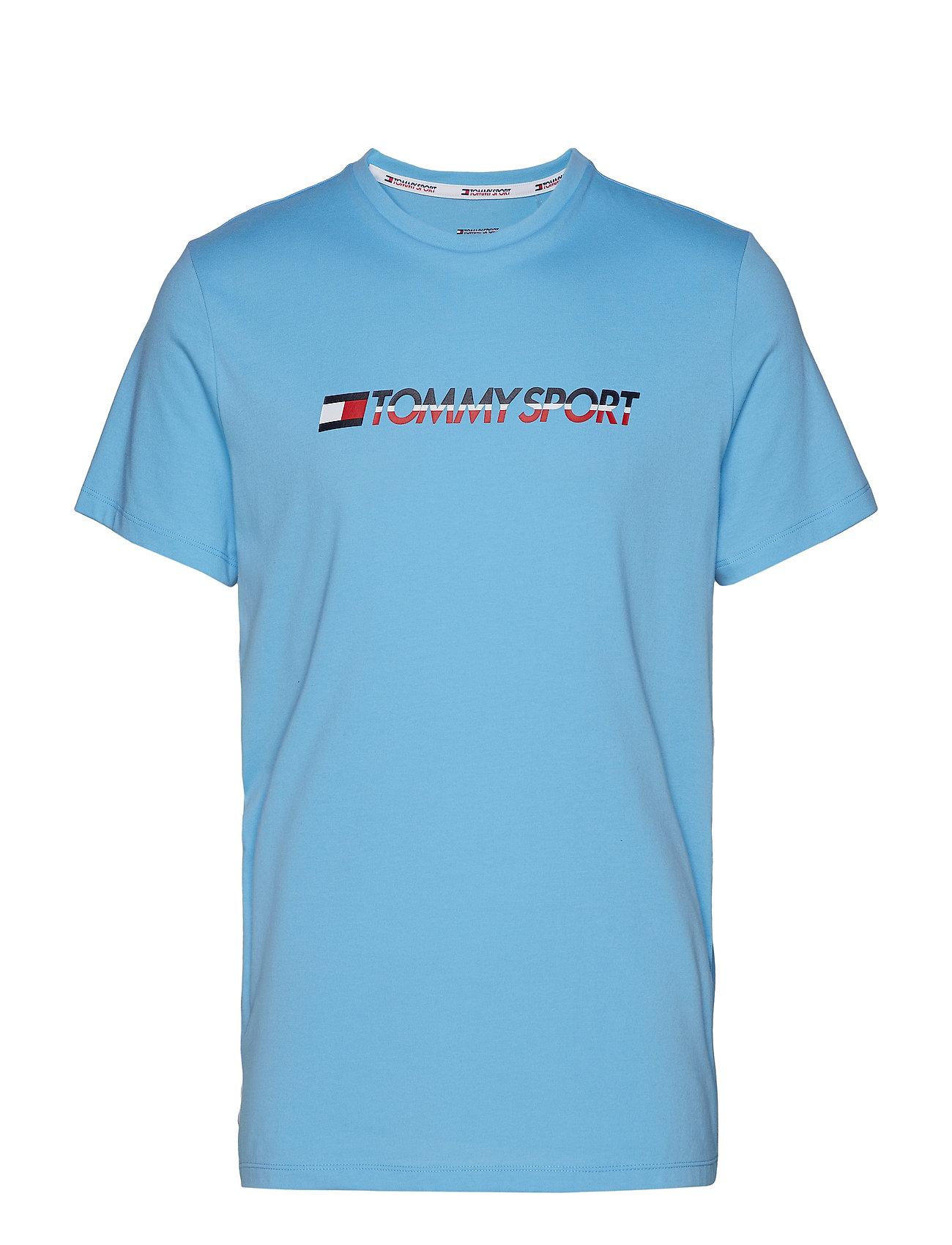 Tommy Sport TAPE TEE - ALASKAN BLUE