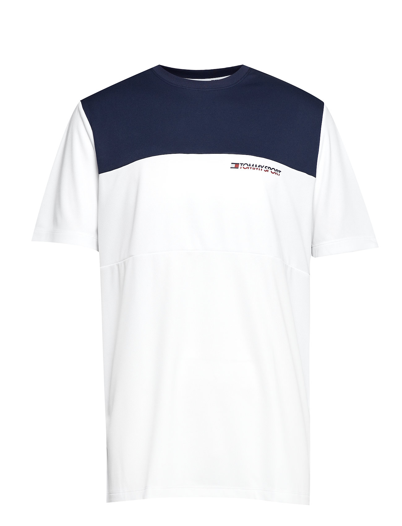 Tommy Sport COLOURBLOCK LOGO TEE - PVH WHITE