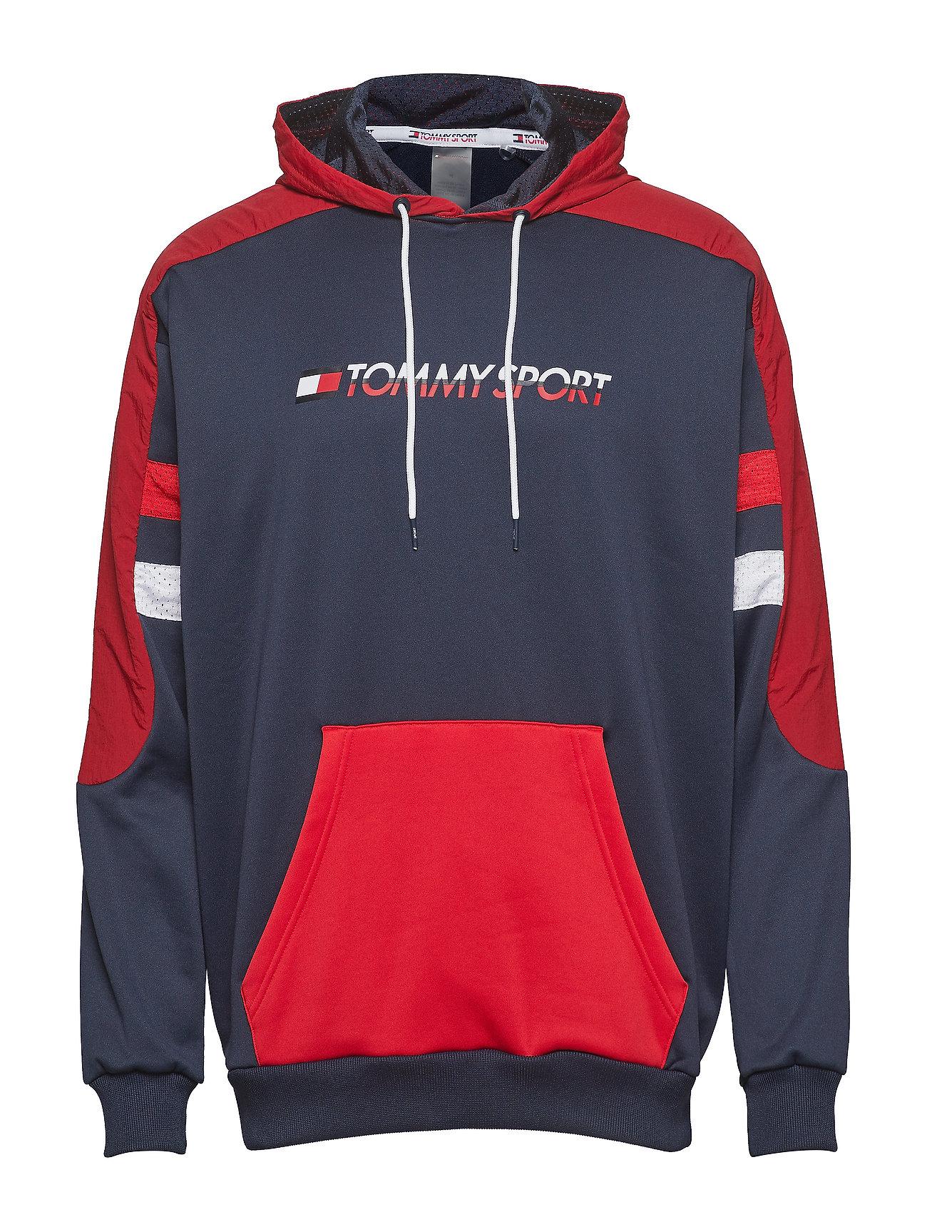 Tommy Sport BLOCK HOODY LOGO - TRUE RED