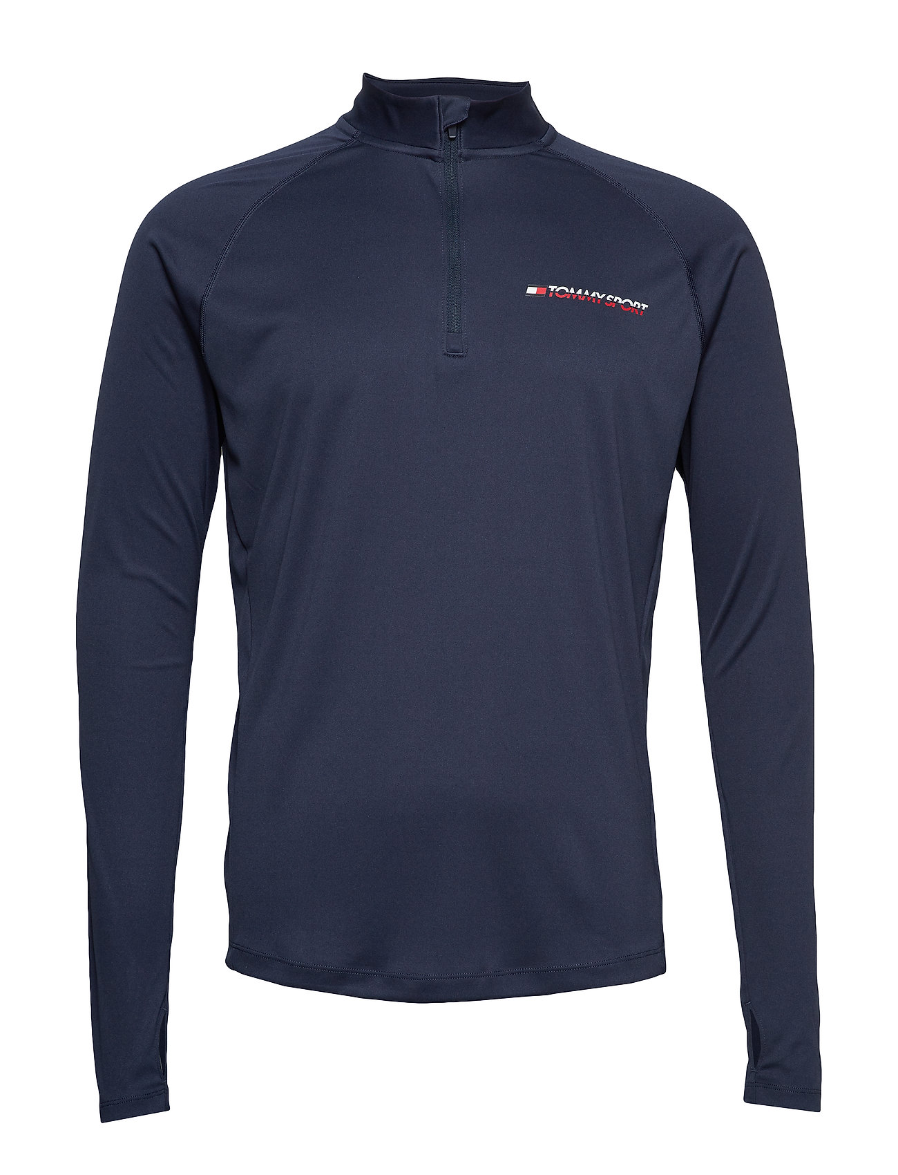 Tommy Sport 1/4 ZIP BASE LAYER T - SPORT NAVY