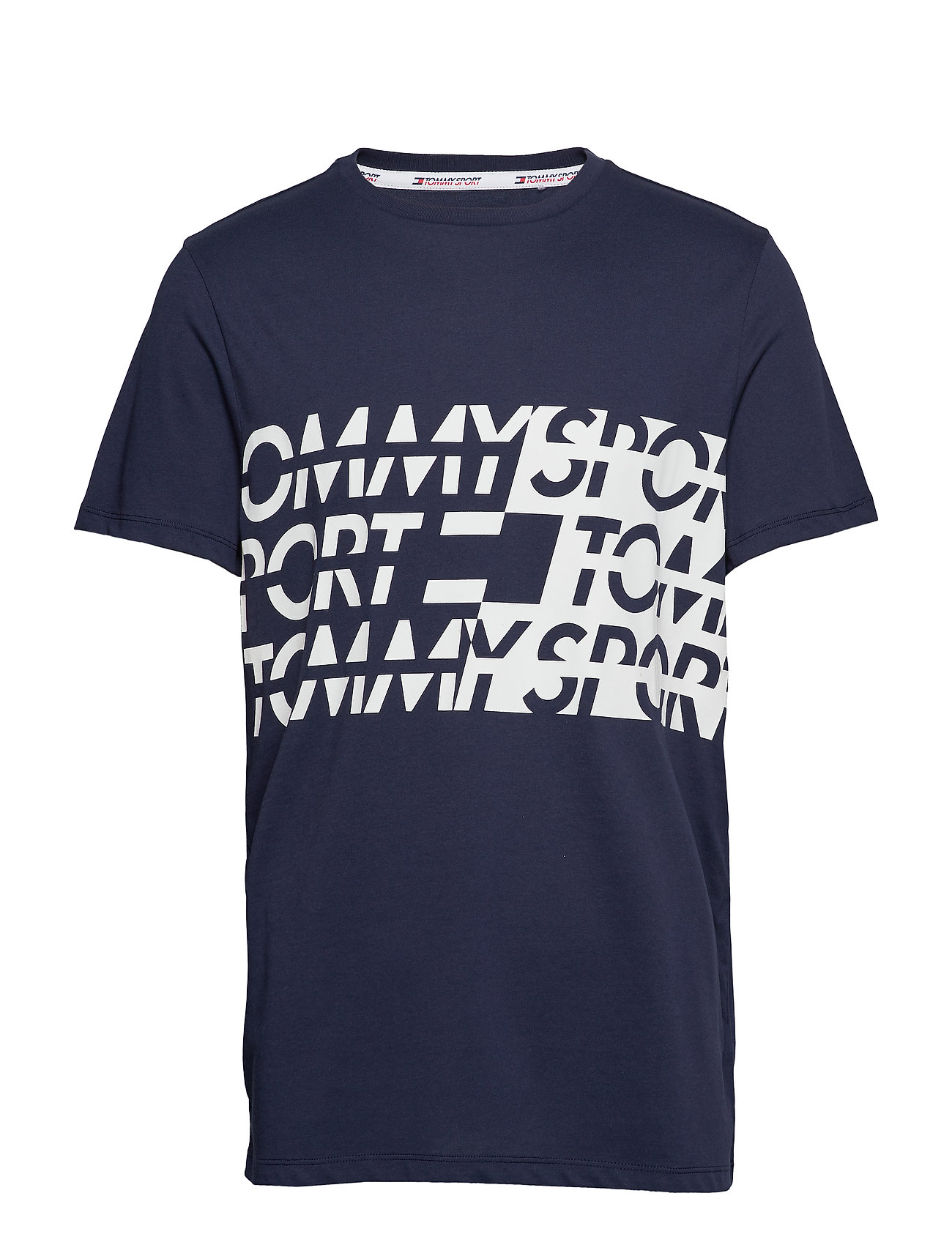 Tommy Sport GRAPHIC TEE - SPORT NAVY