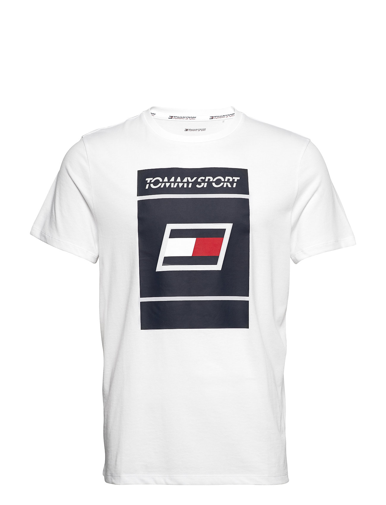 Tommy Sport GRAPHIC TEE 2 - PVH WHITE