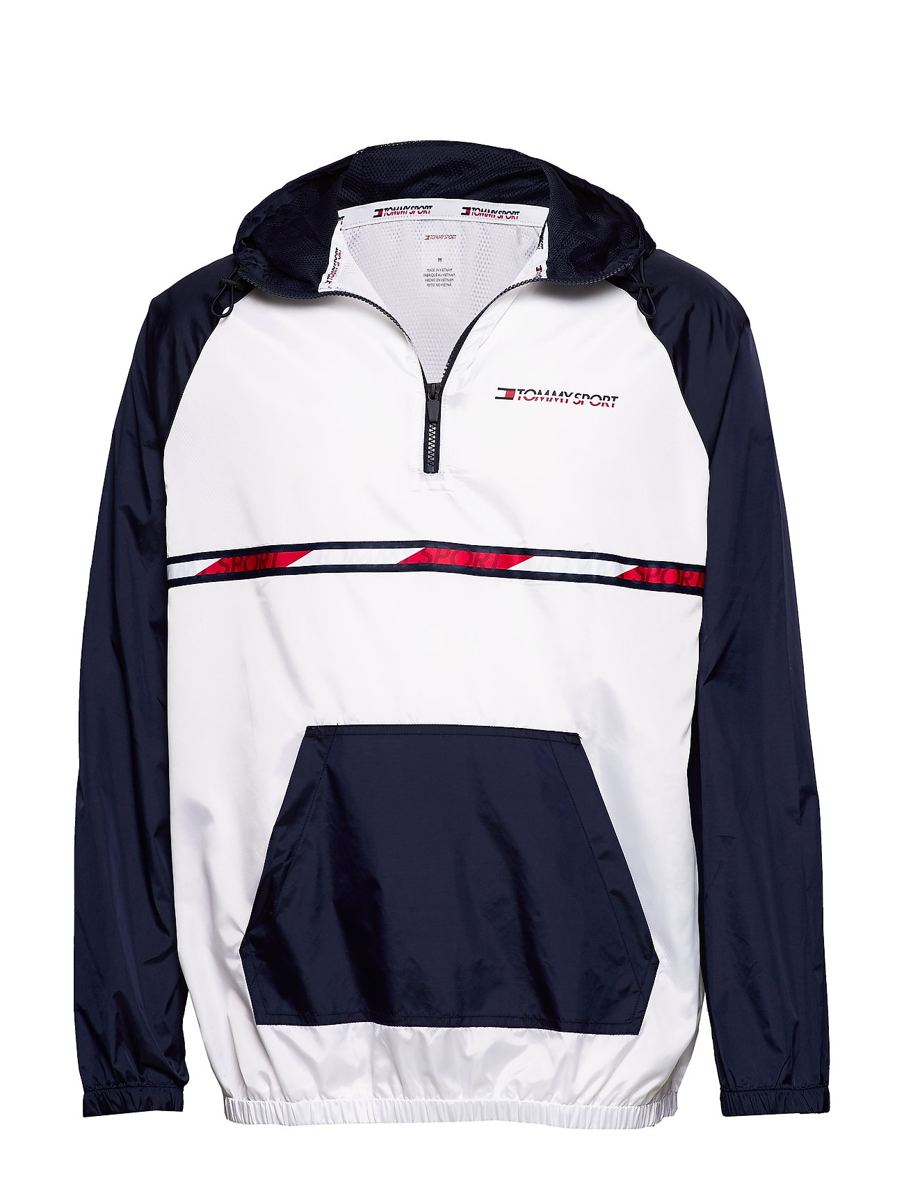 Tommy Sport WOVEN JACKET WITH TA - PVH WHITE
