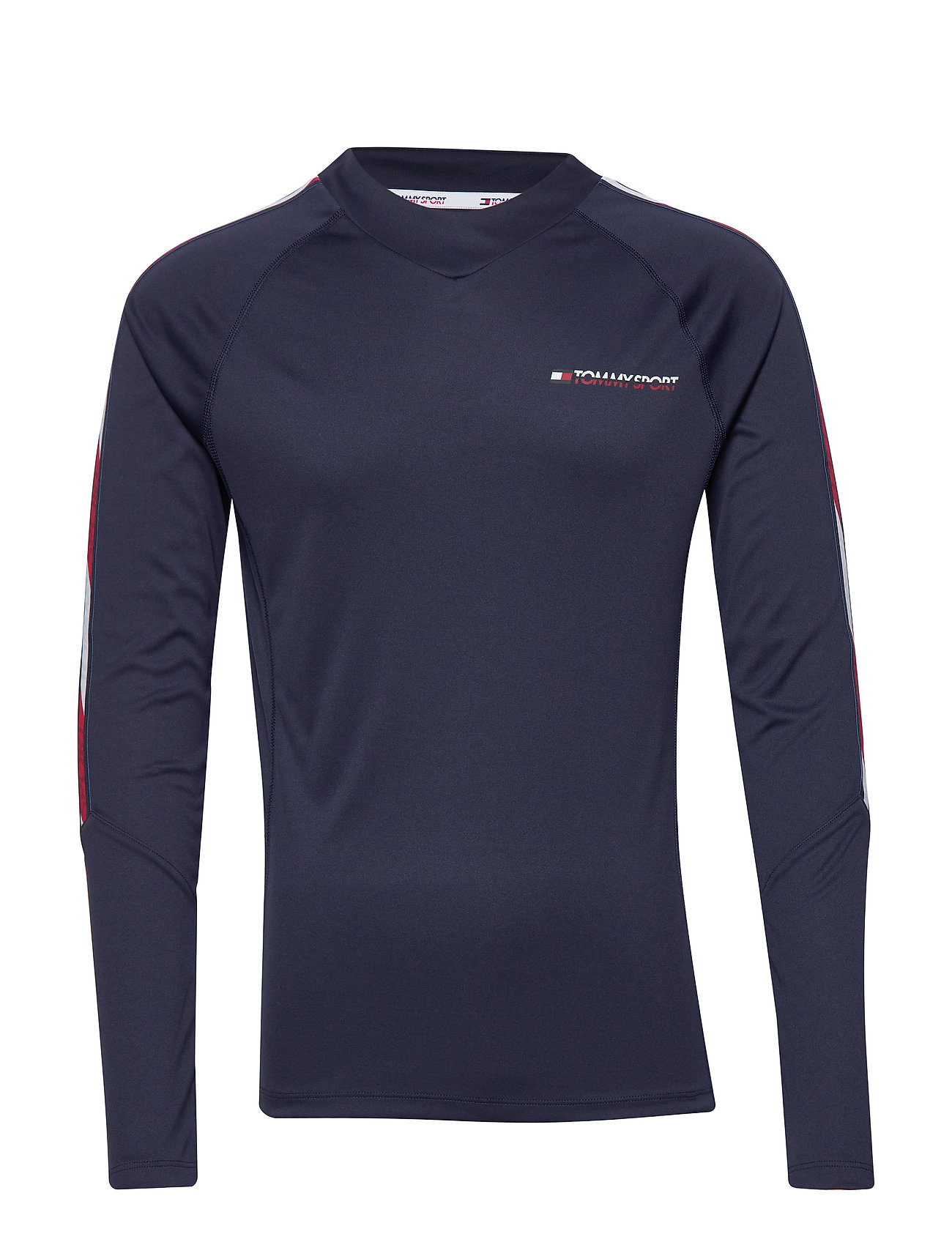 Tommy Sport LONGSLEEVE TEE WITH - SPORT NAVY