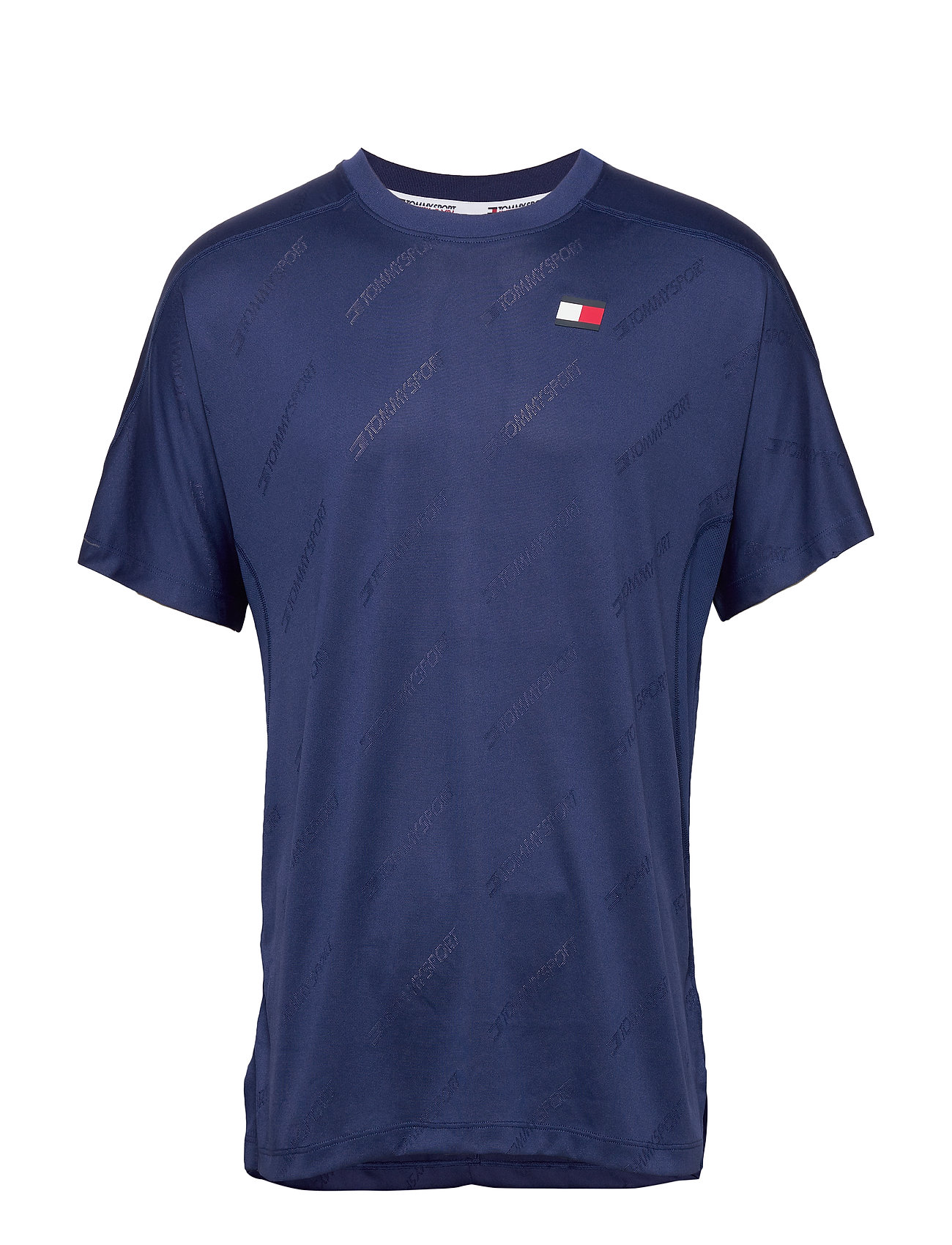 Tommy Sport JACQUARD TRAINING TOP - BLUE INK