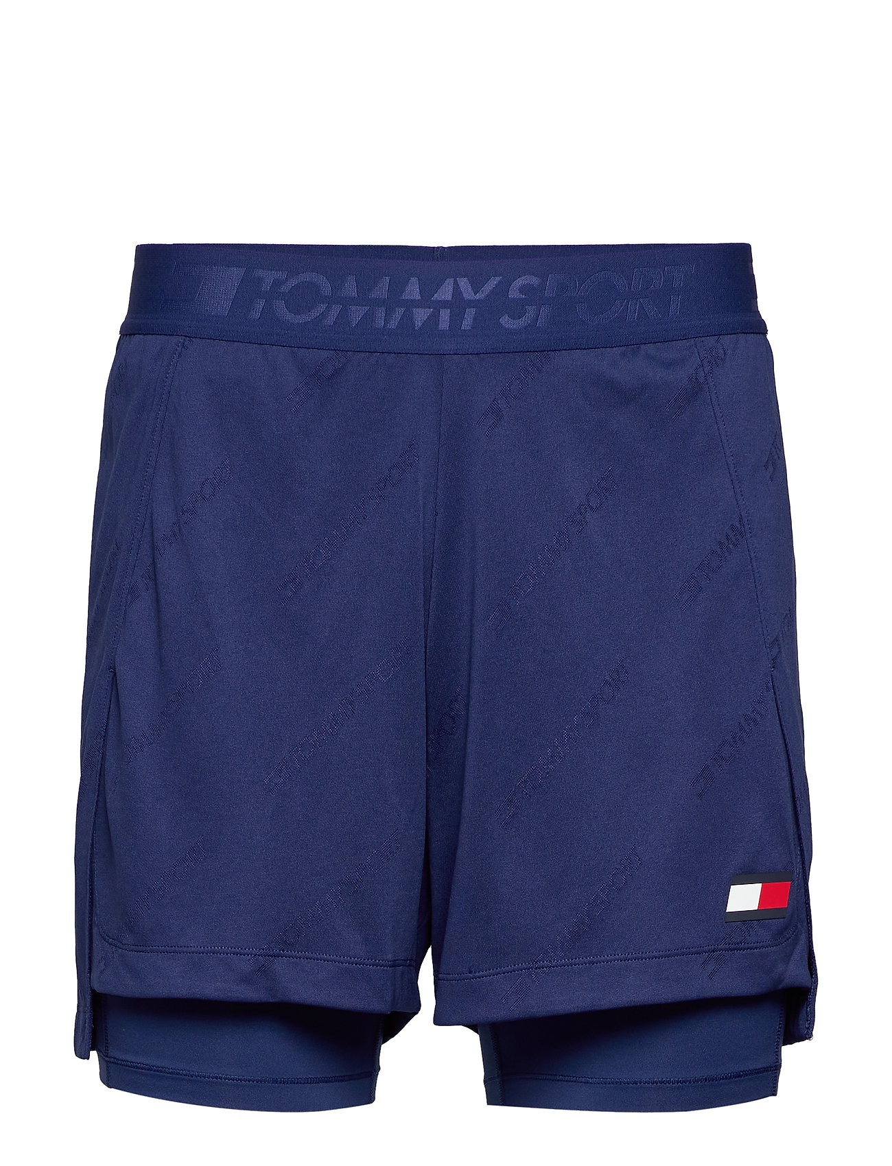 Tommy Sport TRAINING 2-IN-1 SHORT - BLUE INK