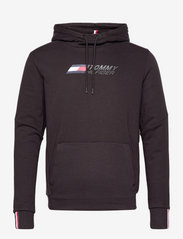 Tommy Sport - LOGO FLEECE HOODY - hoodies - black - 1