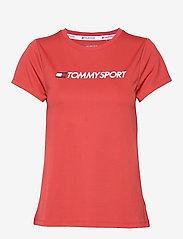 Tommy Sport - TEE CHEST LOGO - logo t-shirts - cardinal - 0