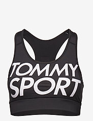 Tommy Sport - SPORTS BRA LOGO MEDIUM - sport bras: medium - pvh black - 0