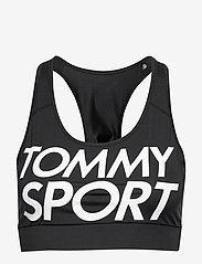 Tommy Sport - SPORTS BRA LOGO MID - sport bras: low - pvh black - 0