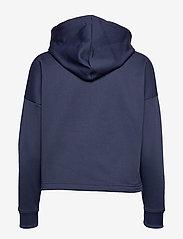 Tommy Sport - CROPPED FLEECE HOODY - hoodies - black iris - 1