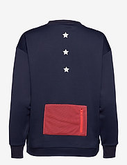 Tommy Sport - BLOCKED TERRY CREW LOGO - sweatshirts - sport navy - 1