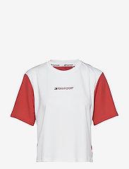 Tommy Sport - BOXY T-SHIRT SHORT SLEEVE - logo t-shirts - cardinal - 0