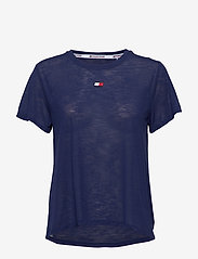 Tommy Sport - PERFORMANCE LBR TOP - t-shirts - blue ink - 0