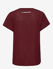 Tommy Sport - PERFORMANCE LBR TOP - t-shirts - deep rouge - 1