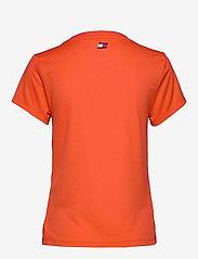 Tommy Sport - PERFORMANCE CHEST LOGO TOP - logo t-shirts - bright vermillion - 1