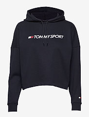 Tommy Sport - CROPPED HOODY LOGO - hoodies - desert sky - 0