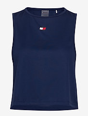 Tommy Sport - PERFORMANCE TANK TOP LBR - tank tops - blue ink - 0