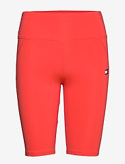 Tommy Sport - KNIT  LONG SHORT LBR - spodenki treningowe - bright vermillion - 0