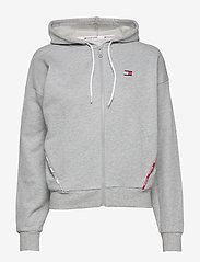 Tommy Sport - HOODY PIPING - hoodies - grey heather - 0
