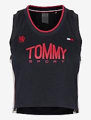 Tommy Sport - CROP TOMMY TANK TOP - crop tops - desert sky - 0