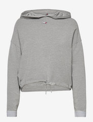 Tommy Sport - RELAXED SOFT MODAL HOODIE LS - hoodies - light grey heather - 0
