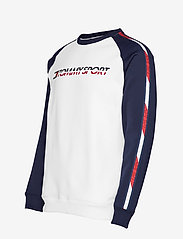 Tommy Sport - FLEECE TAPE CREW - langaermede-toppe - pvh white - 3