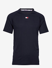 Tommy Sport - TRAINING MESH TOP - t-shirts - desert sky - 0