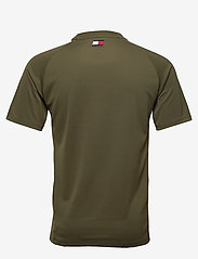Tommy Sport - TRAINING TOP MESH LOGO - t-shirts - army green - 1