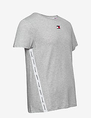 Tommy Sport - TAPE LOGO TOP - t-shirts - grey heather - 3