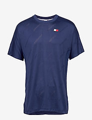Tommy Sport - JACQUARD TRAINING TOP - t-shirts - blue ink - 0
