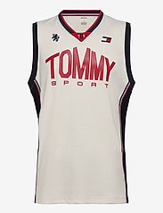 Tommy Sport - BASKETBALL ICONIC TANK TOP - tank tops - ivory - 0
