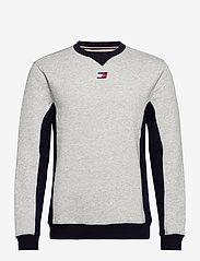 Tommy Sport - BLOCKED FLEECE CREW - longsleeved tops - grey heather - 0
