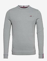 Tommy Sport - LOGO FLEECE CREW - basic-sweatshirts - antique silver - 0