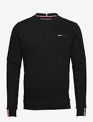 Tommy Sport - LOGO FLEECE CREW - basic-sweatshirts - black - 0