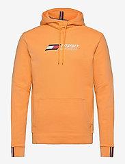 Tommy Sport - TERRY LOGO HOODY - hoodies - lumen sun orange - 0