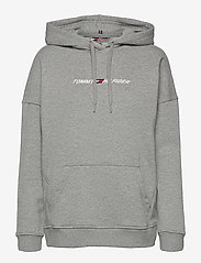 RELAXED GRAPHIC HOODIE LS - LIGHT GREY HEATHER