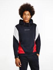 Tommy Sport - BLOCKED SEASONAL HOODY - hoodies - desert sky - 0