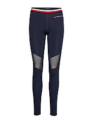 Legging with mesh Full Length - SPORT NAVY